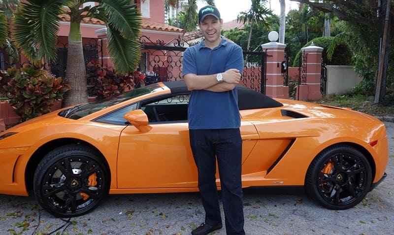 Tim Skykes with car