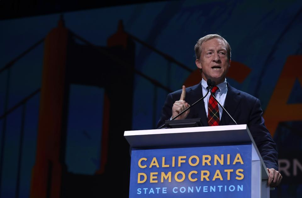 Presidential Candidates Attend The California Democratic Party Organizing Convention