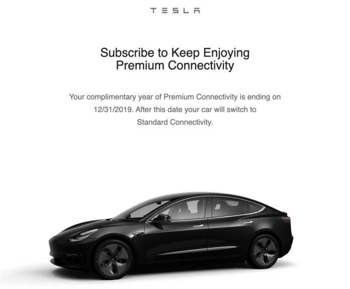 "Tesla's ""Premium Connectivity"" Will Now Set Owners Back $10/Month"