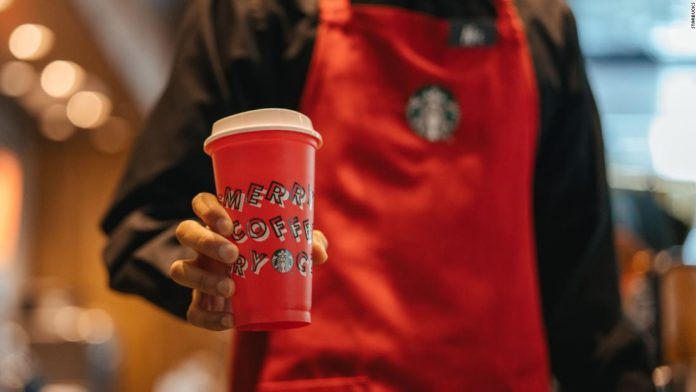 At Starbucks Pop-Up Parties, over 1000 locations will give away free drinks until the new year