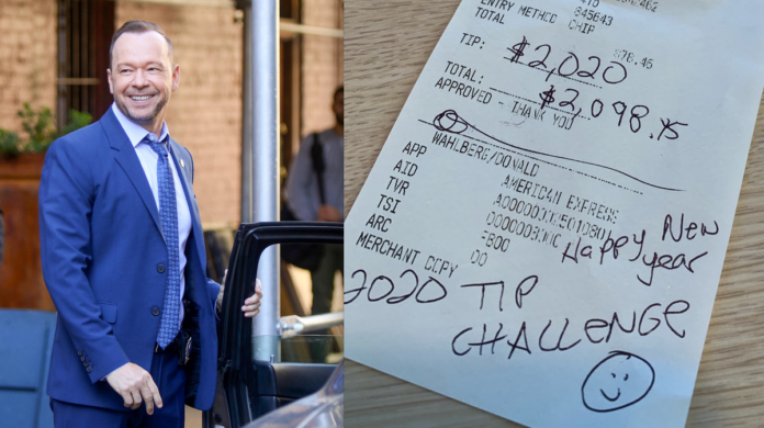 IHOP server given $2,020 tip by Donnie Wahlberg