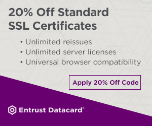 20% Off Standard SSL Certificates for Domestic Purchasers