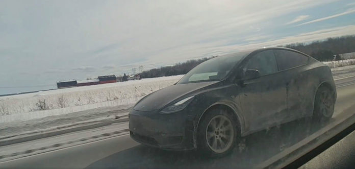 Tesla Model Y gets dirty all the way to Quebec ahead of start of deliveries