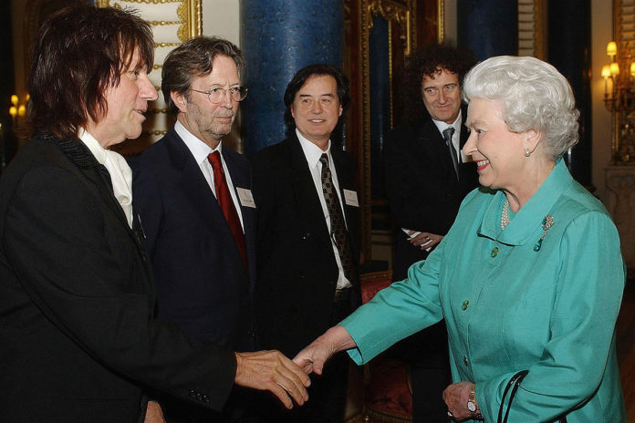 When Clapton, Page, May and Jeff Beck Awkwardly Met the Queen