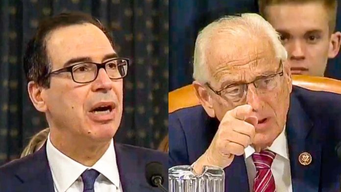 Sparks fly at Steve Mnuchin hearing: 'You're telling me that I'm breaking the law and staggering lies'