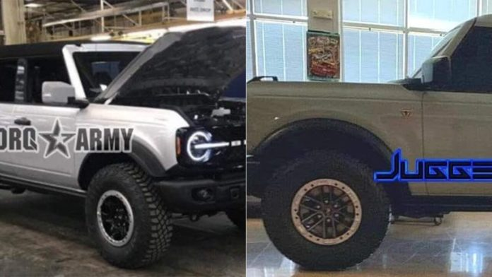 This is probably the 2021 Ford Bronco before you're supposed to see it