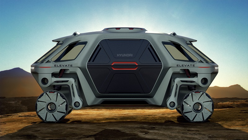 car walking hyundai concept elevate