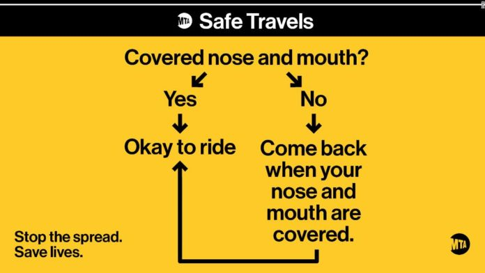 New York's MTA wants to make sure riders keep their mouths and noses covered