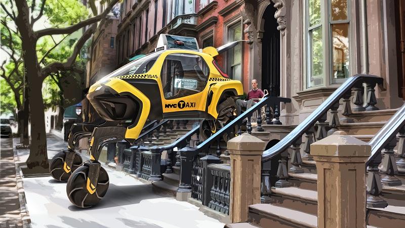 walking car concept elevate hyundai