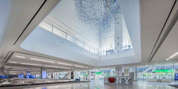 LaGuardia Airport opens new terminal building, nears construction end