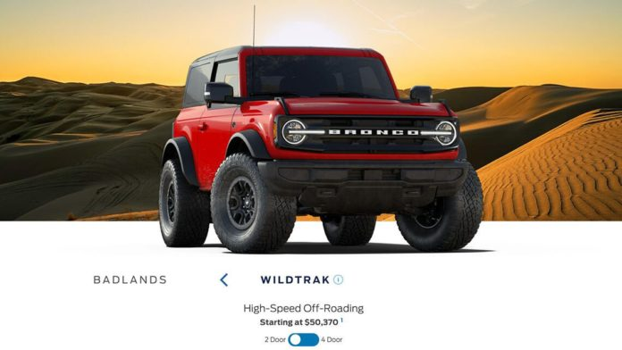 2021 Ford Bronco and Bronco Sport reservation order guide