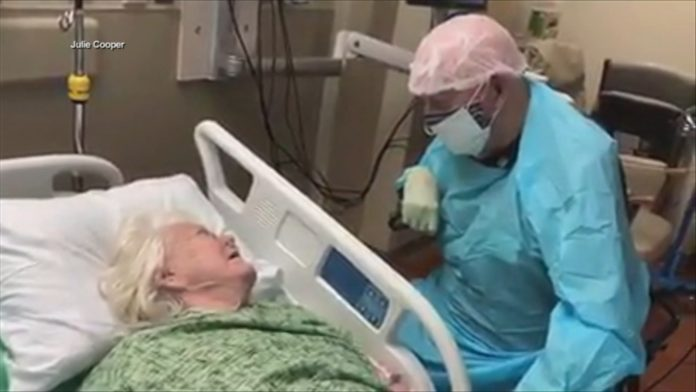 Touching video shows 90-year-old man saying final goodbyes to wife with COVID-19 -TV