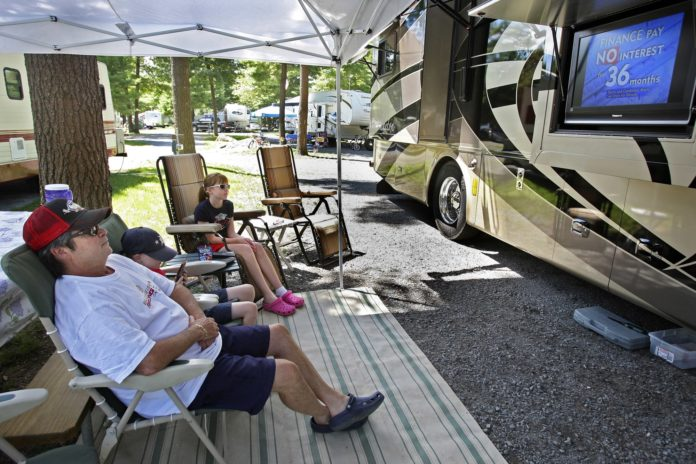 Pandemic pushes travelers to take to the road in RVs
