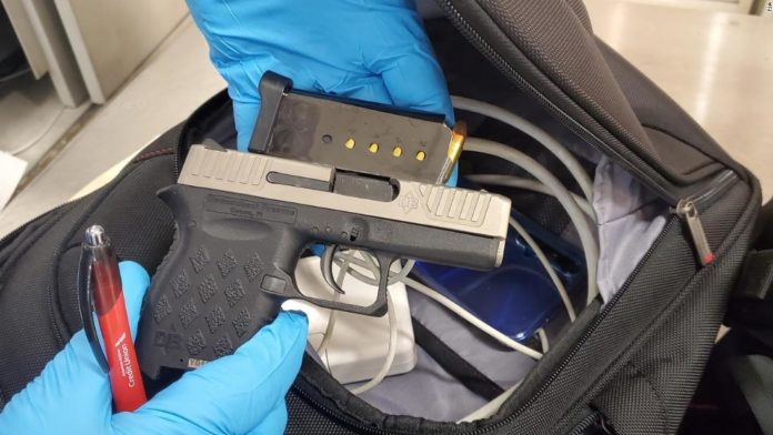 Air passenger traffic is down 75% but TSA found 3 times the rate of guns it did in July last year