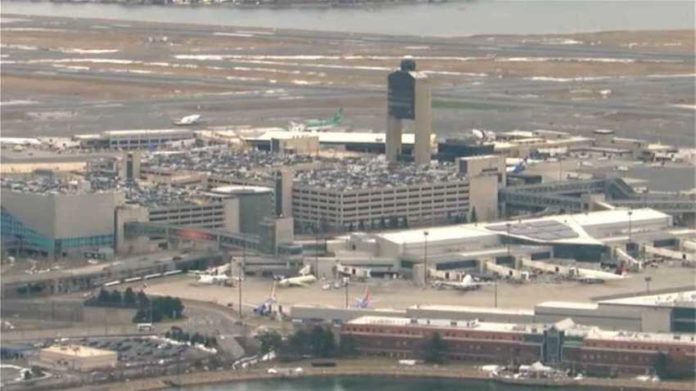 JetBlue flight from Boston's Logan Airport to LAX returns an hour after take-off