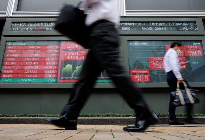 Global stocks set for dire week, best for dollar since April