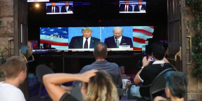 European stocks choppy and U.S. equity futures fall after chaotic presidential debate